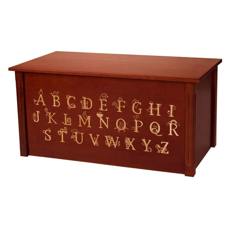 Wood Creations Dark Cherry ABC Toy Box