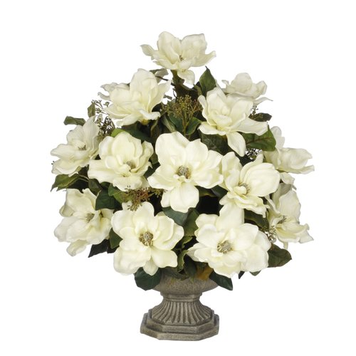 House of Silk Flowers Inc. Artificial Magnolia with Bay Leaves