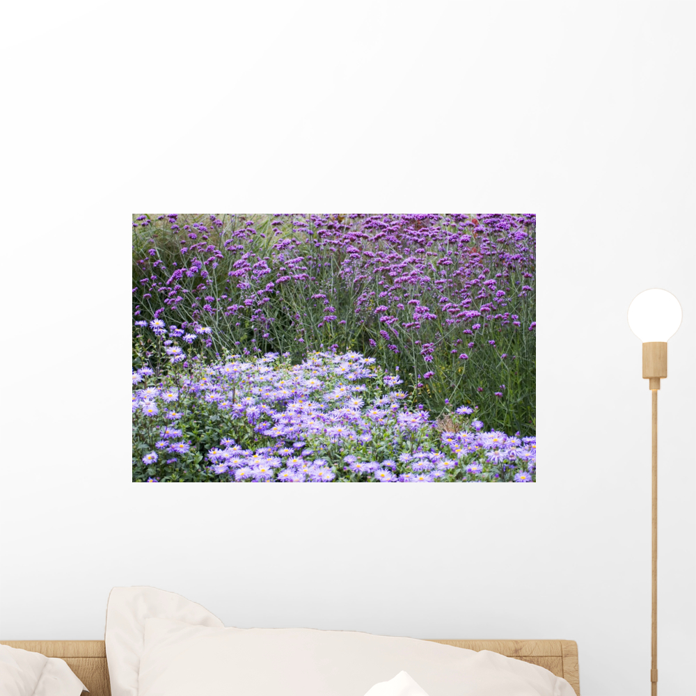 Purple Flowers Wall Mural by Wallmonkeys Peel and Stick Graphic 18