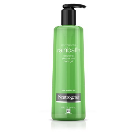 Neutrogena Rainbath Shower and Bath Gel, Pear and Green Tea, 16 fl. oz - Green Skin