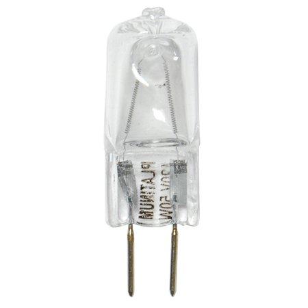 BulbAmerica 50W 120V T4 GY6.35 Bi-Pin Base Clear Halogen (50w Bi Pin Halogen Bulb)