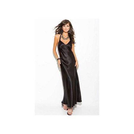 Enticing Black Diva Charmeuse Gown 1919XEM_B Black