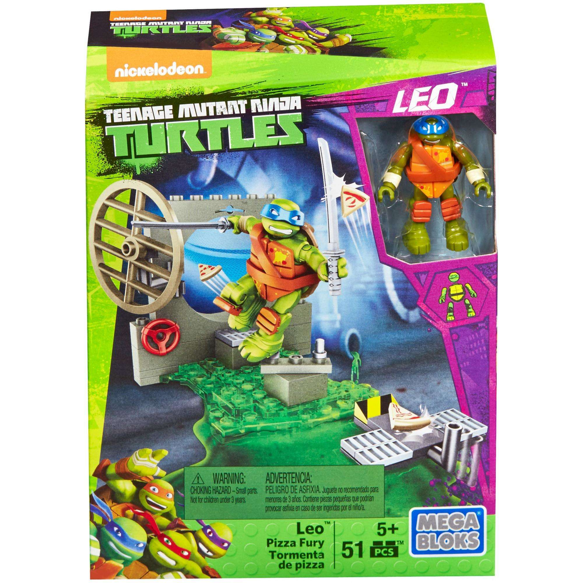 Mega Bloks Teenage Mutant Ninja Turtles Leo Pizza Fury by Mattel