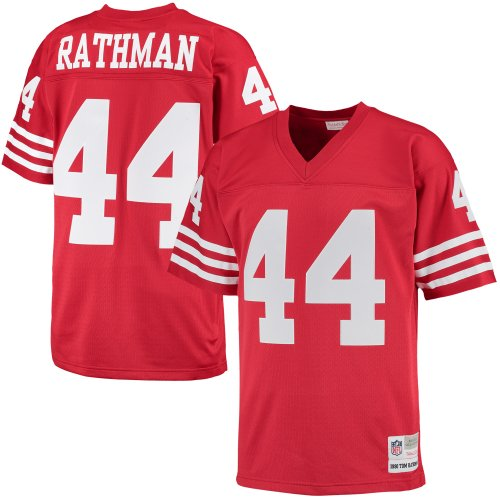 Tom Rathman San Francisco 49ers Mitchell   Ness Retired Player Replica  Jersey - Scarlet - Walmart.com 246bc0ab2