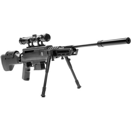 Pellet Gun Black Ops Sniper Rifle  177 Caliber Ammo With Scope And Bipod