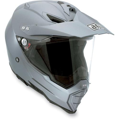 AGV AX-8 EVO DS Dual Sport Solid MX/Offroad Helmet Titanium Gray