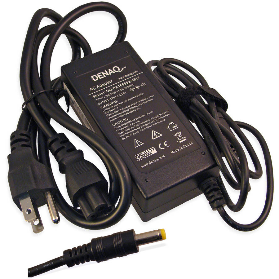 DENAQ 19-Volt 3.16-Amp 4.8mm-1.7mm AC Adapter for Acer TravelMate Series Laptops