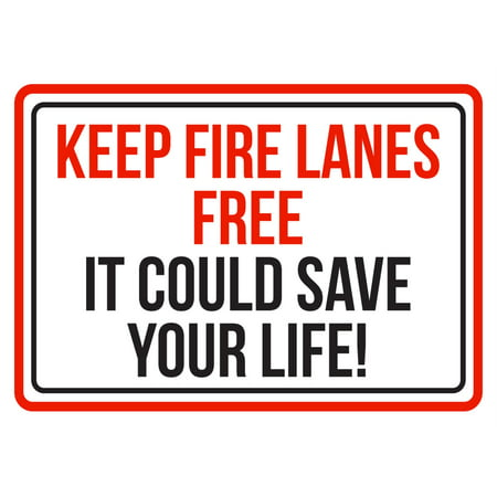 Keep Fire Lanes Free It Could Save Your Life Red, Blk & White Business Commercial Safety Warning Small Sign, 7.5x10.5](Lovers Lane Halloween Commercial)