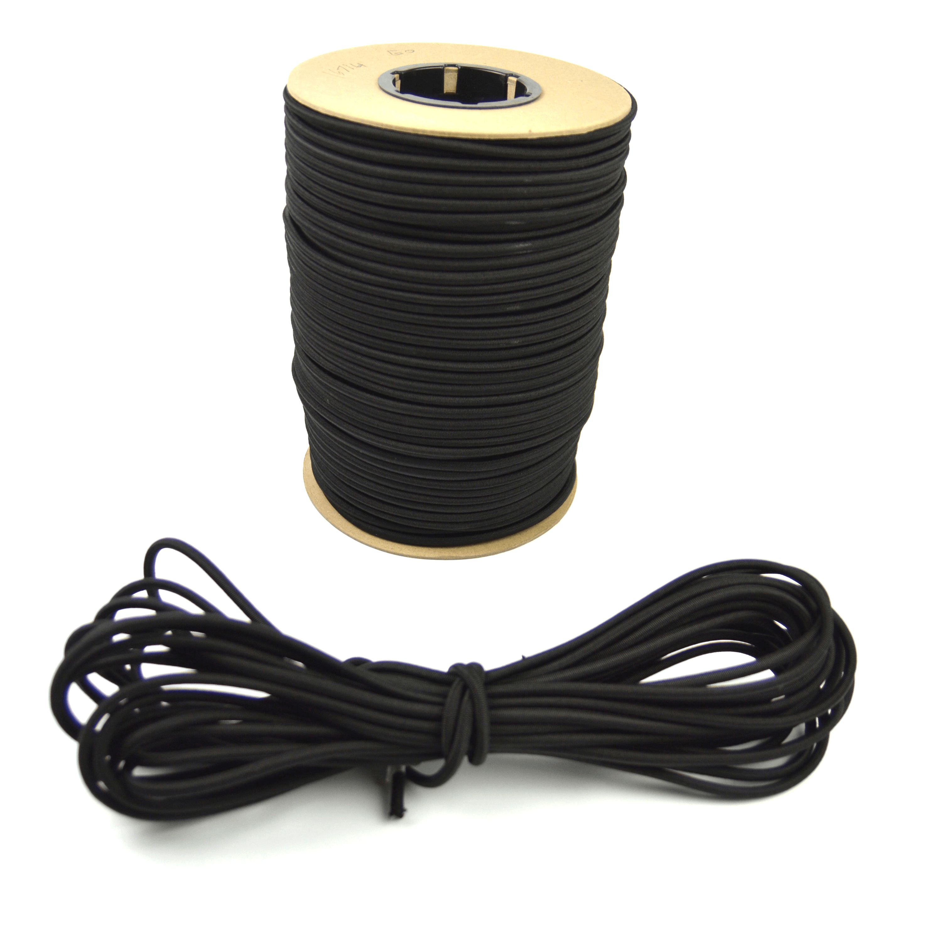 """50ft of Marine Masters 1/4"""" Black Bungee Shock Cord - Elastic Stretch Rope"""