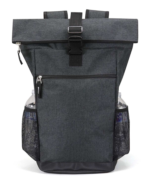 Heather backpack Casual College High School Student Bookbag zipper top  Laptop Book Bag Travel Computer Tablet Daypack Charcoal - Walmart.com e33067b98184b