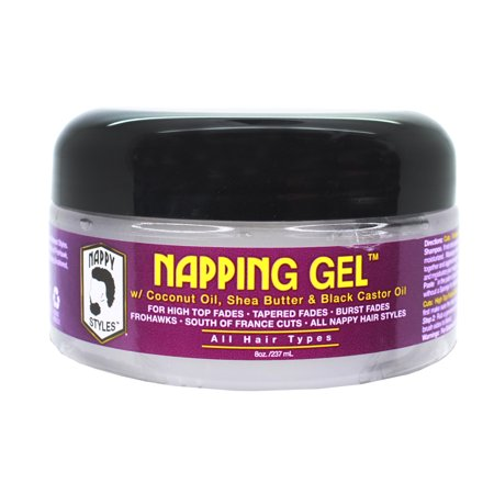 Nappy Styles Barber Grooming Coconut Shea Castor Napping Gel 8oz