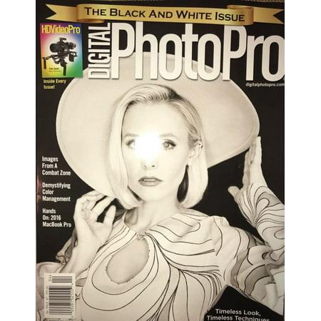 DIGITAL PHOTO PRO MAGAZINE March April 2017 Kristen Bell Black White HD VIDEO (Photos D'halloween 2017)