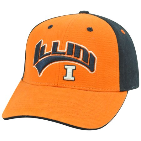 Illinois Fighting Illini Cap (Illinois Fighting Illini NCAA Two Tone Arch Orange Adjustable  Hat Cap)