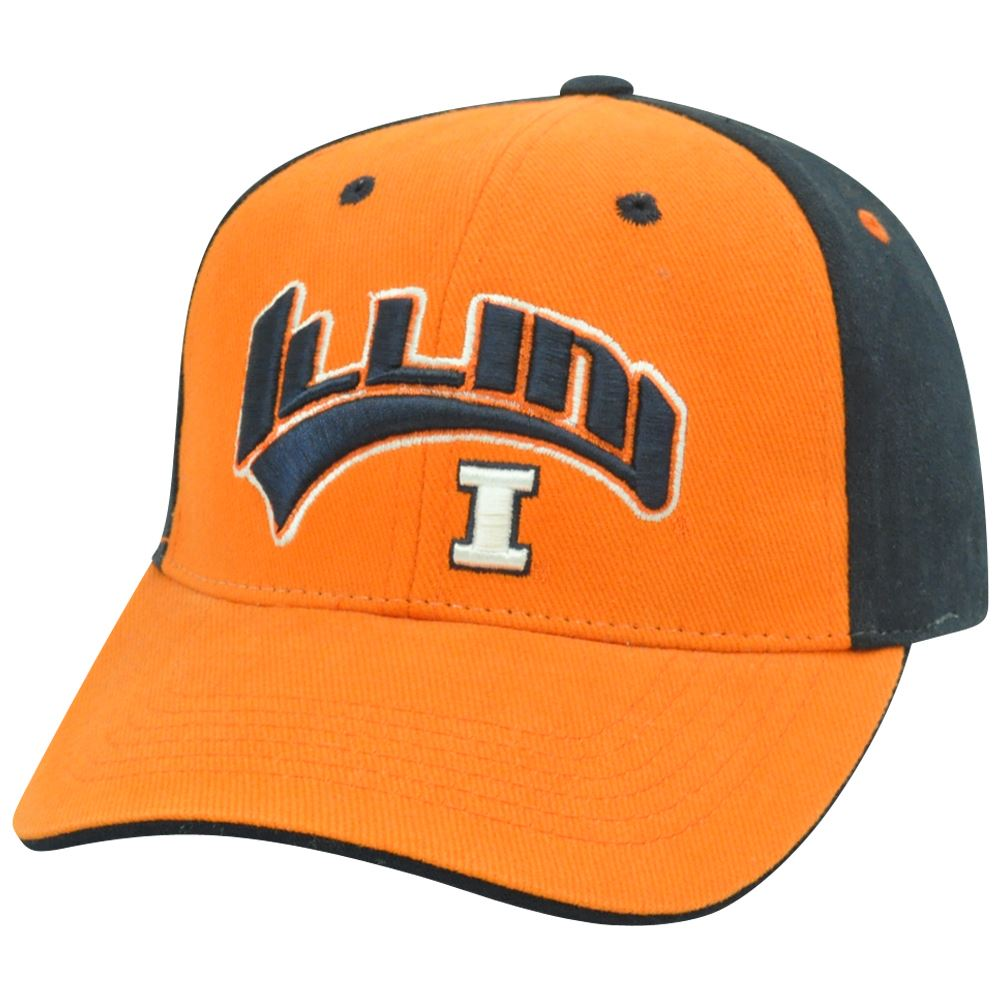 Illinois Fighting Illini NCAA Two Tone Arch Orange Adjustable  Hat Cap