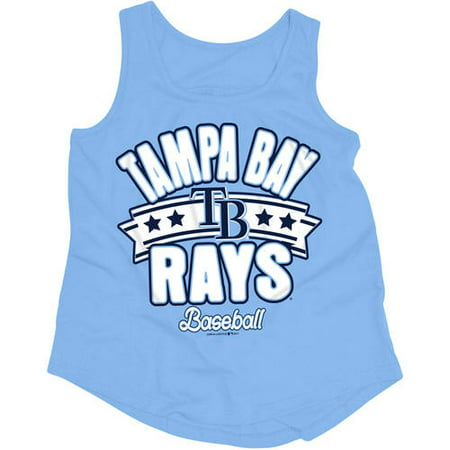 official photos 4036b 331ba MLB Tampa Bay Rays Girls Short Sleeve Team Color Graphic Tee