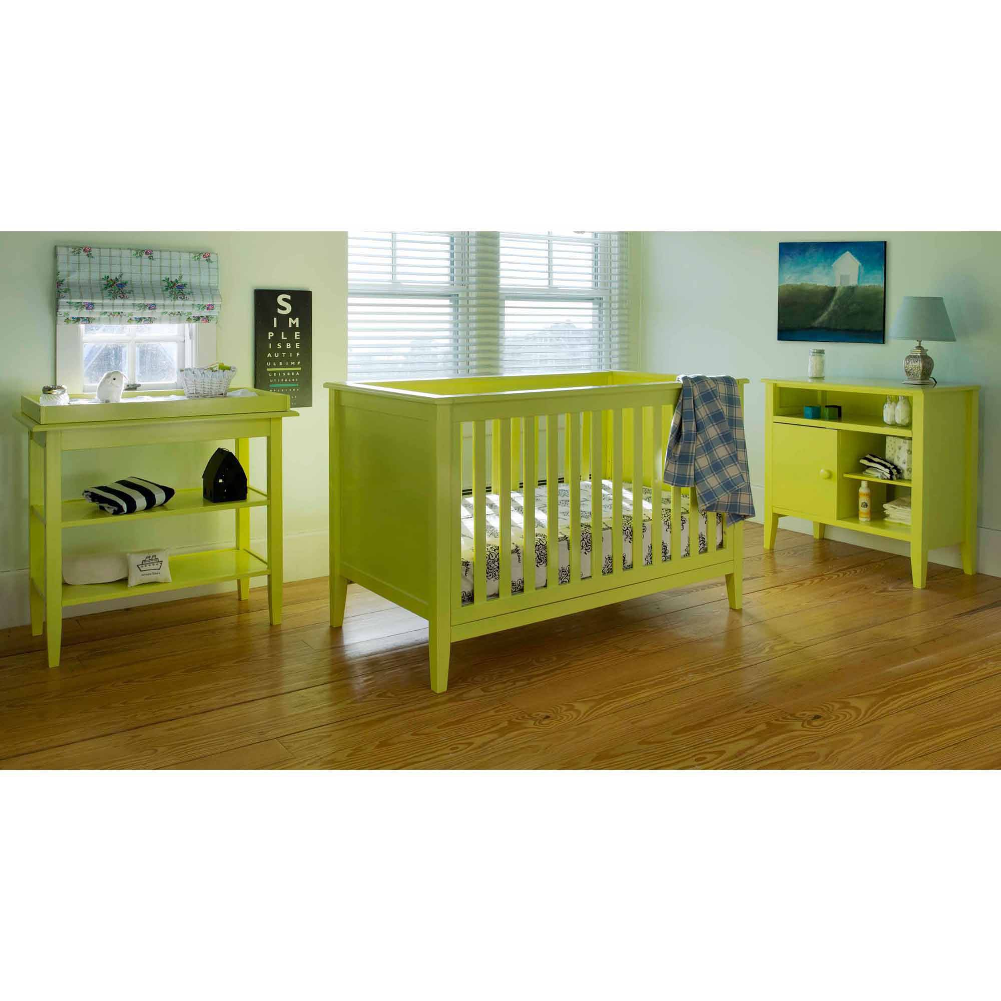 Lolly & Me Color Me 3-in-1 Convertible Crib Citron Yellow