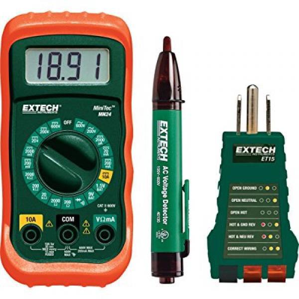 Extech Electrical Test Kit - 3-Pc., Model# MN24_KIT