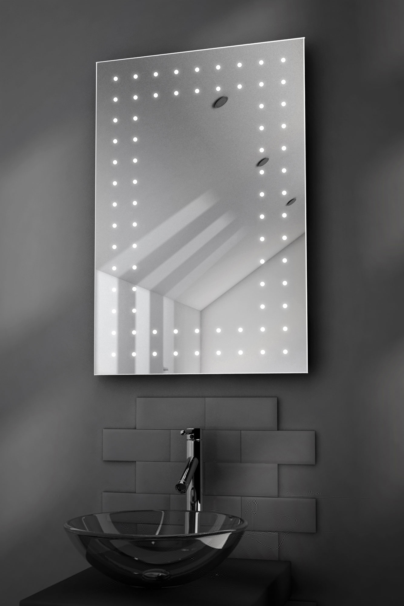 Orion Ultra Slim LED Bathroom Mirror With Demister Pad