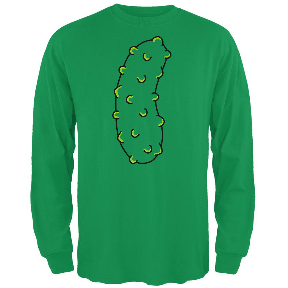 Halloween Vegetable Pickle Costume Mens Long Sleeve T Shirt