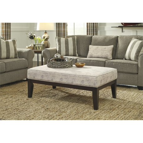 Ashley baveria coffee table ottoman in gray for Meuble ashley circulaire