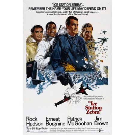 Hudson Station Halloween (Ice Station Zebra Us Poster From Left Ernest Borgnine Jim Brown Rock Hudson Patrick Mcgoohan 1968 Movie Poster)