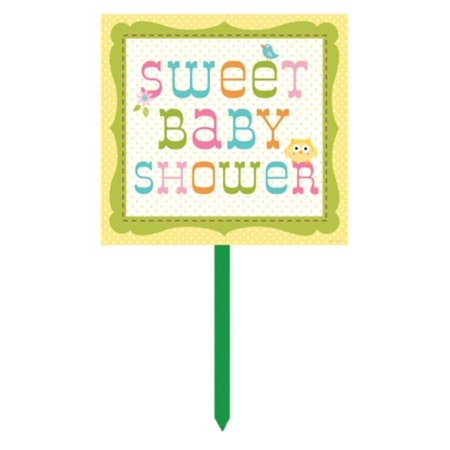 Pack of 6 happi tree owl sweet baby shower outdoor for Baby shower decoration packs