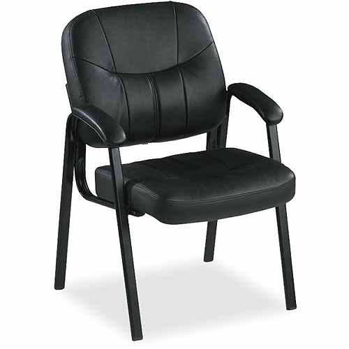 Lorell Chadwick Executive Leather Guest Chair, Black