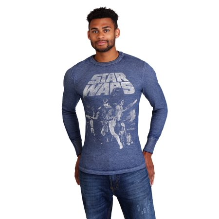 Star Wars: A New Hope Poster Mens Navy Heather Burnout - New Mens Marine Star