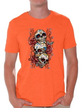 c2f1c985be62 Product Image Awkward Styles skull shirts mens womens day of the dead  costume t shirt dia de Los
