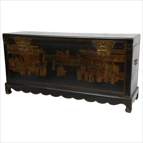 Daily Life Trunk in Black Lacquer Finish