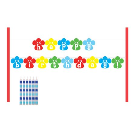 Puppy Party Cake Banner Decorating Set (Puppy Themed Party Supplies)
