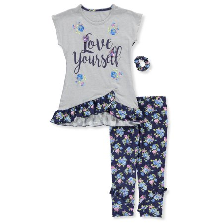 Star Ride Girls' 2-Piece Leggings Set Outfit with Scrunchie](Rock Star Outfit)