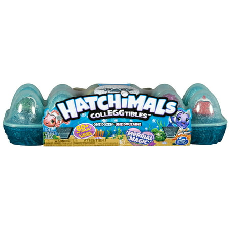 Hatchimals CollEGGtibles, Mermal Magic 12 Pack Egg Carton with Season 5 Hatchimals, for Kids Aged 5 and Up (Styles May Vary)