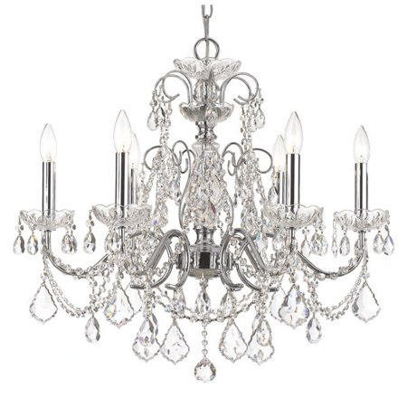 Crystorama Lighting-3226-CH-CL-MWP-Imperial - Six Light Chandelier ()