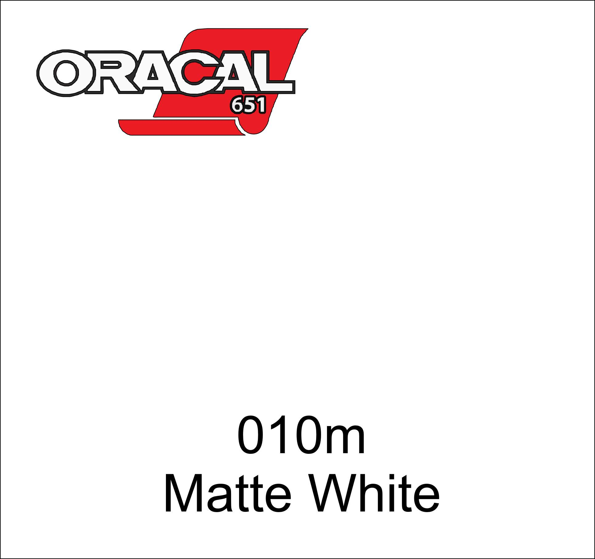 "12"" x 5 ft ORACAL 651 White Matte (010M) Adhesive Vinyl for Craft, Decal, Sign. Compatible with Cricut, Silhouette, ANY Machine"