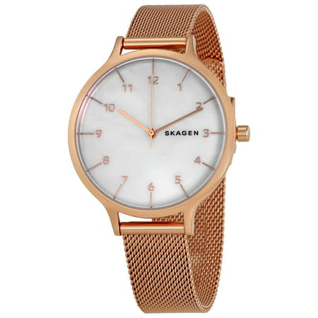 SKW2633 Women's Anita MOP Dial Rose Gold Mesh Bracelet Watch (Rose Gold Mesh Watch)