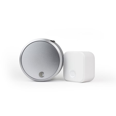 August Home Smart Lock Pro, 3rd Generation, plus Connect, Silver