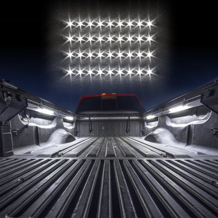 White - 4xTruck Bed light with Auto-off Delay Switch Single Color XKGLOW UnderglowLED Accent Light Truck Bed/Toolbox Kit ()