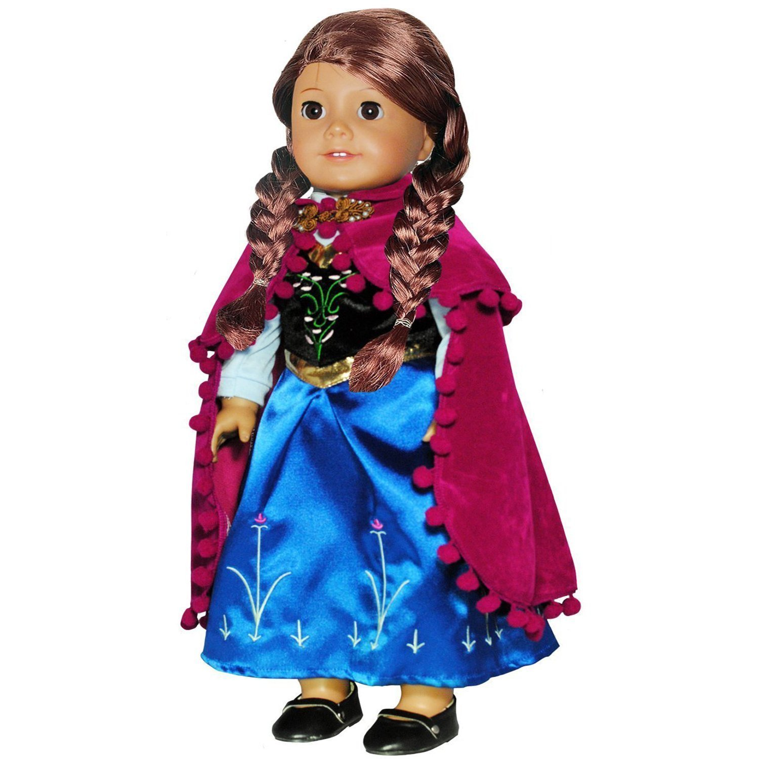 Doll Clothes Princess Anna Dress Outfit WITH EMBROIDERED DETAILS Fits American Girl Doll... by Pink Butterfly Closet