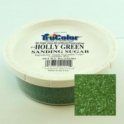 Ultimate Baker Natural Sanding Sugar (Med. Crystals) Holly Green (1x8oz)