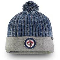 Winnipeg Jets Fanatics Branded Women's Iconic Ace Cuffed Knit Hat with Pom - Gray - OSFA