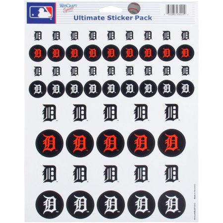 Detroit Tigers 8.5'' x 11'' Sticker Sheet - No Size