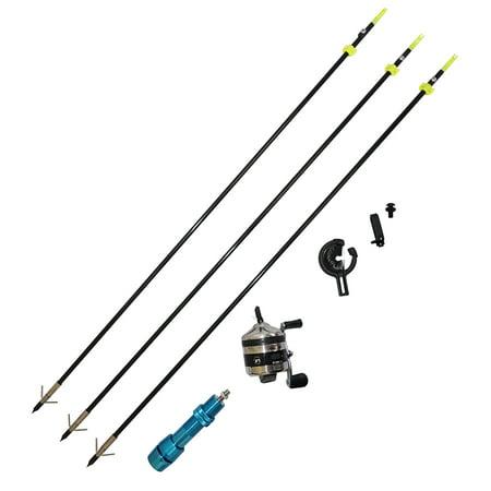Safari Choice Bowfishing Combo - Reel, Arrow Rest, Blue Reel Seat, Arrows - Blue Safari