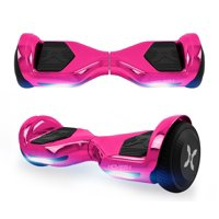 Hover-1 Allstar UL Certified Electric Hoverboard w/ 6.5in LED Wheels, LED Sensor Lights; Lithium-ion 14 Cell battery; Ideal for Boys and Girls 8+ and Less Than 220 lbs - Pink