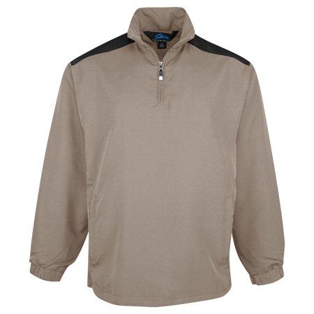 Tri-Mountain Men's All Seasons 1 4 Zip Windshirt (1/4 Zip Windshirt Jacket)