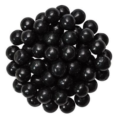 Edible Sugar Pearls Dragees Decoration Balls - BLACK 2 oz.