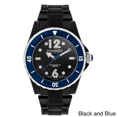 Haurex Italy Women's Beauty Black Polycarbonate Watch Black and blue