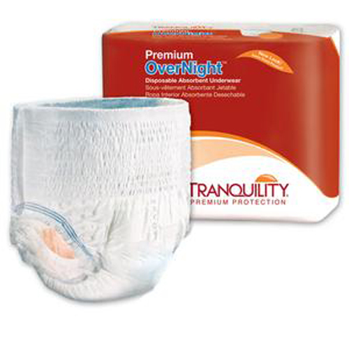 Tranquility Premium OverNight Underwear, MED 34-48 Inch-Pack of 18