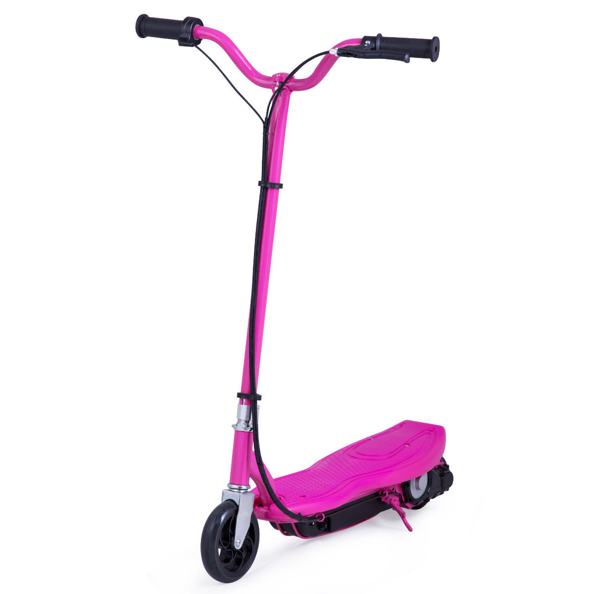 Gymax Rechargeable Electric Scooter 24 Volt Motorized Ride On Outdoor For Teens Rose by Gymax