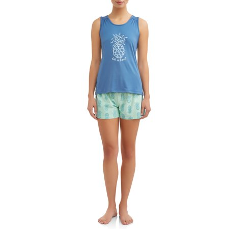 2-Piece Knit Sleep Set (Tank and Short) JV Apparel Women's and Women's